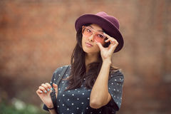 Ασιατικό πορτρέτο γυναικών υπαίθρια Στοκ Φωτογραφία
