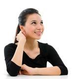 Ασιατικό πορτρέτο γυναικών. Στοκ εικόνα με δικαίωμα ελεύθερης χρήσης
