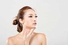 Ασιατικό πορτρέτο προσώπου ομορφιάς Στοκ εικόνες με δικαίωμα ελεύθερης χρήσης