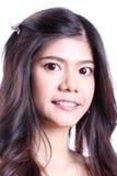 Ασιατικό πορτρέτο χαμόγελου γυναικών Στοκ Εικόνα