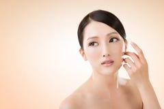 Ασιατικό πρόσωπο ομορφιάς Στοκ φωτογραφία με δικαίωμα ελεύθερης χρήσης