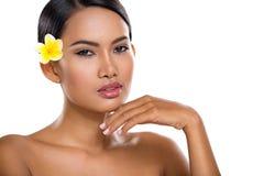 Ασιατικό πρόσωπο ομορφιάς Στοκ εικόνα με δικαίωμα ελεύθερης χρήσης