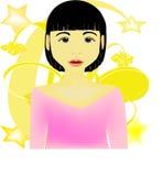 ασιατικό πρόσωπο διανυσματική απεικόνιση