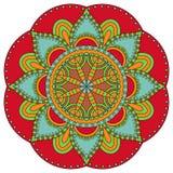 Ασιατικό πρότυπο Παραδοσιακή στρογγυλή χρωματίζοντας διακόσμηση mandala στοκ φωτογραφίες με δικαίωμα ελεύθερης χρήσης