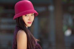 Ασιατικό ρομαντικό πορτρέτο γυναικών Στοκ Εικόνες