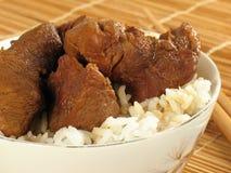 ασιατικό ρύζι χοιρινού κρέατος Στοκ Εικόνα