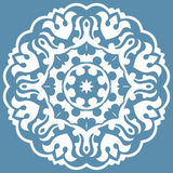 Ασιατικό σχέδιο με τα arabesques και τα floral στοιχεία Στοκ Φωτογραφίες