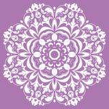 Ασιατικό σχέδιο με τα arabesques και τα floral στοιχεία Στοκ εικόνες με δικαίωμα ελεύθερης χρήσης