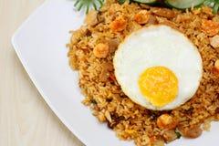 Ασιατικό τηγανισμένο ρύζι Στοκ εικόνα με δικαίωμα ελεύθερης χρήσης