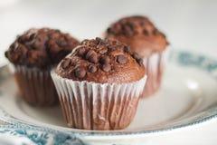 Ασιατικό τσάι με muffins σοκολάτας Στοκ εικόνες με δικαίωμα ελεύθερης χρήσης