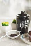 Ασιατικό τσάι με muffins σοκολάτας Στοκ φωτογραφία με δικαίωμα ελεύθερης χρήσης