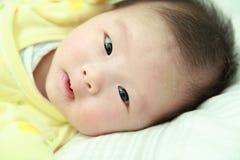 ασιατικό χαμόγελο προσώπου μωρών χαριτωμένο Στοκ εικόνα με δικαίωμα ελεύθερης χρήσης