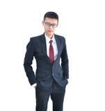Ασιατικό χαμόγελο επιχειρησιακών ατόμων που απομονώνεται στο άσπρο υπόβαθρο, clippin Στοκ φωτογραφίες με δικαίωμα ελεύθερης χρήσης