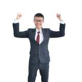 Ασιατικό χαμόγελο επιχειρησιακών ατόμων που απομονώνεται στο άσπρο υπόβαθρο, clippin Στοκ Φωτογραφία