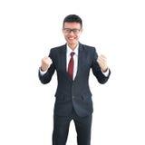 Ασιατικό χαμόγελο επιχειρησιακών ατόμων που απομονώνεται στο άσπρο υπόβαθρο, clippin Στοκ εικόνες με δικαίωμα ελεύθερης χρήσης