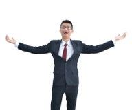 Ασιατικό χαμόγελο επιχειρησιακών ατόμων που απομονώνεται στο άσπρο υπόβαθρο, clippin Στοκ Φωτογραφίες