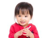 Ασιατικό χαμόγελο μικρών κοριτσιών Στοκ Φωτογραφία