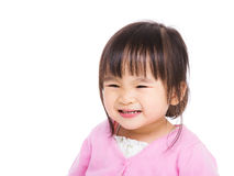 Ασιατικό χαμόγελο μικρών κοριτσιών Στοκ Εικόνα