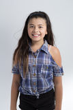 Ασιατικό χαριτωμένο ευτυχές χαμόγελο κοριτσιών Στοκ φωτογραφίες με δικαίωμα ελεύθερης χρήσης