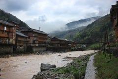 Ασιατικό χωριό, Κίνα Στοκ εικόνα με δικαίωμα ελεύθερης χρήσης