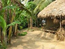 ασιατικό χωριό λάσπης σπιτιών στοκ εικόνα