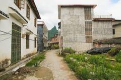 ασιατικό χωριό Στοκ Εικόνα