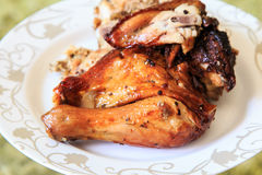 Ψημένο στη σχάρα κοτόπουλο πιπεριών Στοκ φωτογραφίες με δικαίωμα ελεύθερης χρήσης