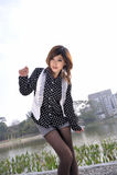 ασιατικό όμορφο κορίτσι κ& Στοκ Φωτογραφίες