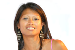 ασιατικό όμορφο κορίτσι Στοκ Φωτογραφίες
