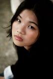 ασιατικό όμορφο μαύρο κορί στοκ εικόνα