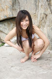 ασιατικό όμορφο bikini κορίτσι Στοκ Εικόνα