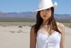 ασιατικό όμορφο cowgirl Στοκ Φωτογραφίες