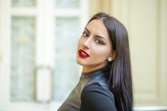 ασιατικό ύφος Αισθησιακό αραβικό πρότυπο γυναικών Όμορφο καθαρό δέρμα Στοκ φωτογραφία με δικαίωμα ελεύθερης χρήσης