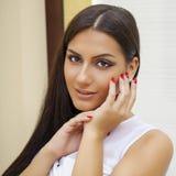 ασιατικό ύφος Αισθησιακό αραβικό πρότυπο γυναικών Όμορφο καθαρό δέρμα Στοκ εικόνα με δικαίωμα ελεύθερης χρήσης
