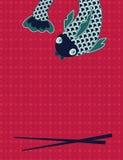 ασιατικό chopsticks πρότυπο παραδ&omi Στοκ Φωτογραφίες