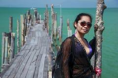 ασιατικό koh κοριτσιών samui απο&b στοκ εικόνες με δικαίωμα ελεύθερης χρήσης
