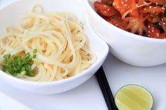 ασιατικό noodle μωρών χταπόδι στοκ εικόνες