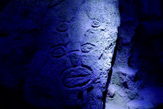 Ασιατικό petroglyph Στοκ Εικόνα
