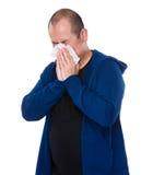 Ασιατικό sneeze ατόμων στοκ φωτογραφία