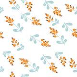 δασική φωτογραφία απεικόνισης μούρων ρεαλιστική πρότυπο άνευ ραφής Στοκ Εικόνα