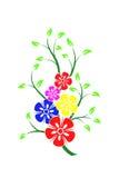 δασικό λευκό άνοιξη λουλουδιών απεικόνιση αποθεμάτων