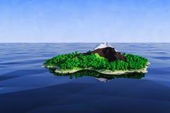 Δασικό νησί Στοκ Εικόνα