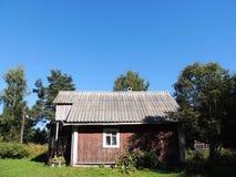 δασικό σπίτι μικρό Στοκ Εικόνες