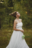 Δασικό όμορφο κορίτσι νεράιδων στο λευκό Στοκ εικόνες με δικαίωμα ελεύθερης χρήσης