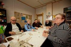 Ασκήσεις για την ανάπτυξη της προσοχής για το eldery Στοκ Εικόνα