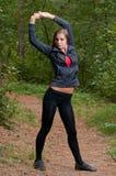 Ασκήσεις πρωινού στο πάρκο Στοκ εικόνες με δικαίωμα ελεύθερης χρήσης