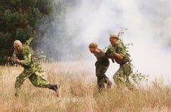 ασκήσεις στρατιωτικές Στοκ Εικόνες
