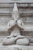 Ασκητικό άγαλμα στην ταϊλανδική τέχνη σχηματοποίησης ύφους, από το sement Στοκ εικόνες με δικαίωμα ελεύθερης χρήσης