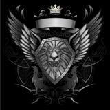 ασπίδα βρυχηθμού λιονταρ Στοκ εικόνα με δικαίωμα ελεύθερης χρήσης