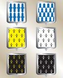Ασπίδα, εραλδικό πρότυπο, Στοκ φωτογραφία με δικαίωμα ελεύθερης χρήσης